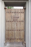 Timber vintage door Royalty Free Stock Photo