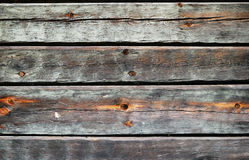 Timber wall of old wooden house Royalty Free Stock Image