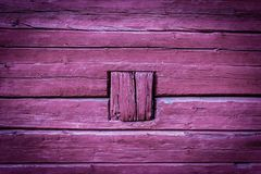 Timber Wall with peculiar fix Royalty Free Stock Photography