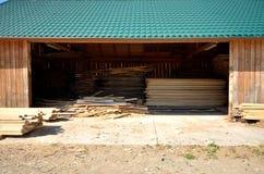 Timber warehouse Royalty Free Stock Photo