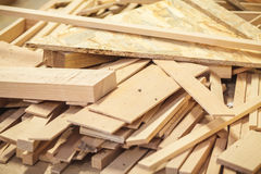 Timber waste wood Stock Photos