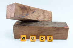 Timber on white background with word. Timber on white background with word wood Stock Photo