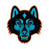 Timber Wolf Head Sports Mascot Stock Photo