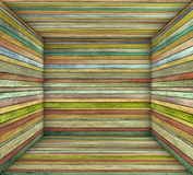 Timber wood multiple color plank square empty space. 3d timber wood multiple color plank square empty space Royalty Free Stock Images