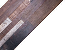 Timber wood panel plank on white background Stock Images