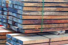 Timber Wood. A photo taken on some timber wood at a construction site Royalty Free Stock Photography
