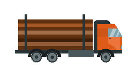 Timber wood truck vector illustration isolated Royalty Free Stock Photography