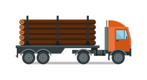 Timber wood truck vector illustration isolated Stock Photography