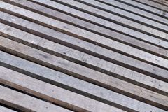 Timber wooden footpath Royalty Free Stock Image
