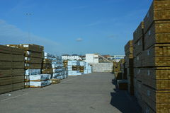 Timber yard Royalty Free Stock Photography