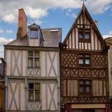 Timbered дома, злят, Франция стоковое фото rf