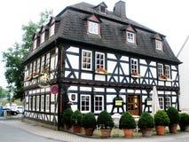 timbered дом Германии половинная стоковые фото