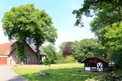 timbered половина Германии 2 сельских домов Стоковые Изображения RF