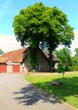 timbered половина Германии 3 сельских домов Стоковое фото RF