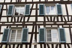 timbered половина фасада Стоковые Изображения RF