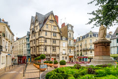 Timbered Adams house in Angers Stock Photography