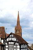 Timbered buildings, Weobley. Royalty Free Stock Images