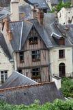 Полу-timbered дом в Chinon, стоковое изображение rf