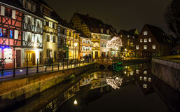 Timbered Ensemble by the Canal Stock Photo