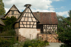 Timbered farm houses Stock Image