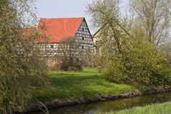 Timbered House. This image shows a old timbered house royalty free stock photo