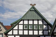 Timbered house in Bad Essen, Osnabrueck country, Lower Saxony, Germany. Europe royalty free stock image