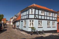 Timbered house corner Stock Image