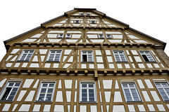 Timbered House from Germany. Isolated on white Royalty Free Stock Photos