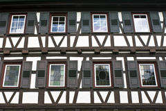 Timbered House from Germany. Full frame Stock Photo
