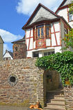 Timbered house in the village of Punderich - Moselle valley wine region in Germany Royalty Free Stock Photos