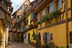 Timbered houses in Alsace, France Royalty Free Stock Images