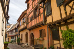 Timbered houses in Alsace, France Royalty Free Stock Photos