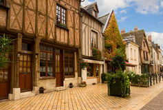 Timbered houses in Amboise, France Stock Image
