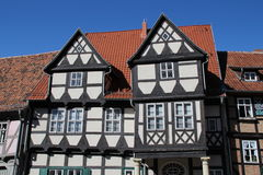 A timbered houses. In Quedlinburg Stock Image