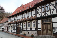 A timbered houses. In Stolberg Stock Image