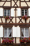 Timbered houses in the village of Eguisheim Royalty Free Stock Photo