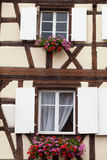 Timbered houses in the village of Eguisheim Stock Image