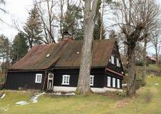 Timbered mountain cottage Stock Photos