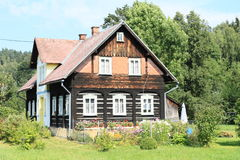 Timbered mountain cottage Royalty Free Stock Images