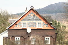 Timbered mountain cottage Royalty Free Stock Photo