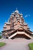 Timbered Orthodox Church Stock Photo