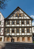 Timbered Schmalkalden. Half-timbered houses in downtown Schmalkalden / Thuringia Royalty Free Stock Image