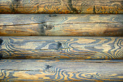 Timbered wall with the texture Stock Photos
