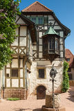 Timberframe house at castle Wartburg Royalty Free Stock Photography