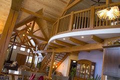 Timberframe interior Royalty Free Stock Images