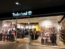 Timberland κατάστημα Στοκ Εικόνα