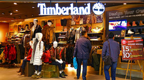 Timberland retail store hong kong Royalty Free Stock Photos