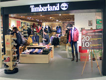 Timberland shop in hong kong Stock Photography