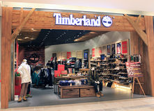 Timberland shop in hong kong Royalty Free Stock Photography
