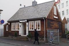 Timberland shop. In Reykjavik, Iceland Stock Image